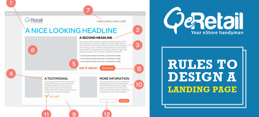 Rules to design a landing page