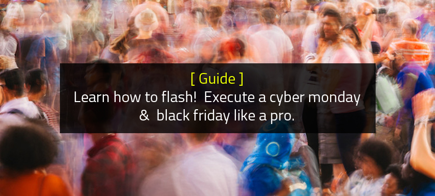 Guide: Learn how to flash! Execute a cyber monday & black friday like a pro.