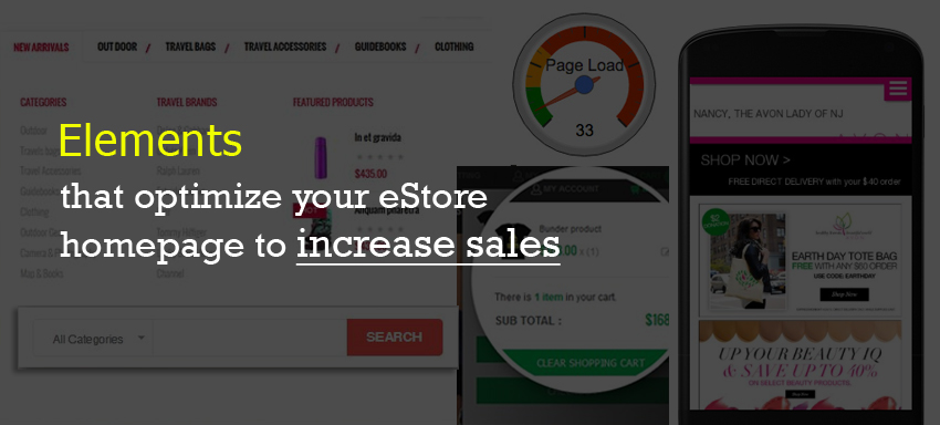 Elements that optimize your eStore homepage to increase sales