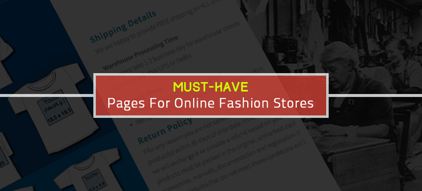 WebPages, an online fashion store must excel