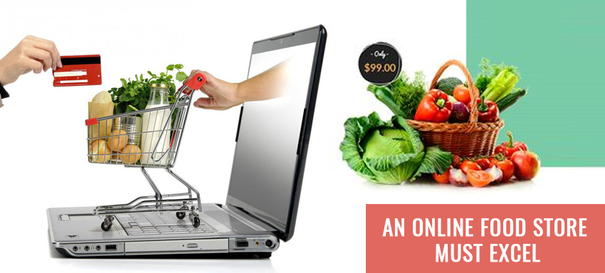 WebPages, an online food store must excel