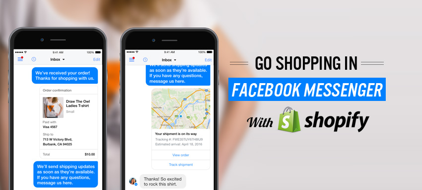 How facebook messenger can be integrated and used with the online store?