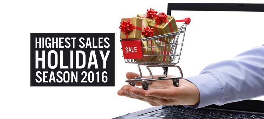 Highest sales holiday season 2016