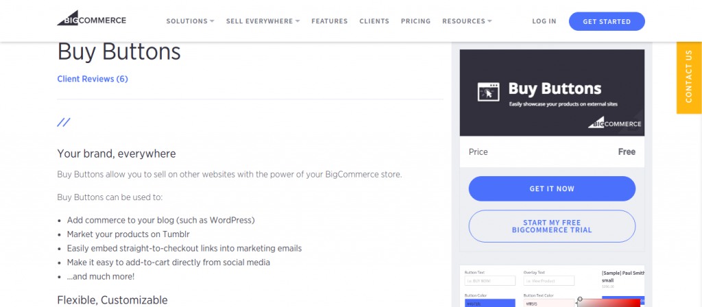 Bigcommerce Buy Button