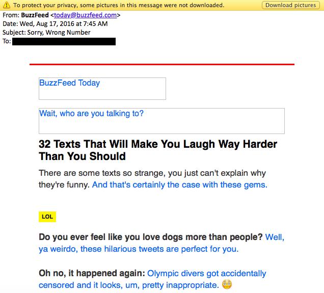 buzzfeed email copywriting