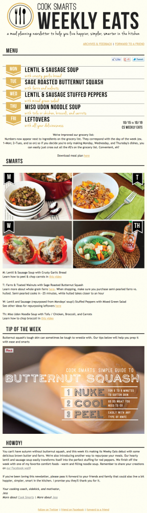 Cook Smarts Email Copywriting Example