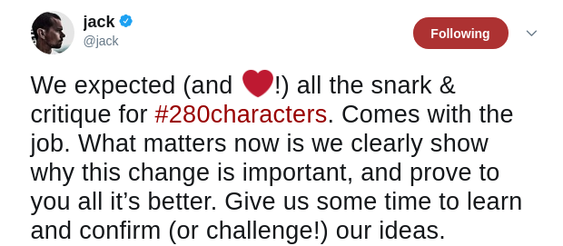 Twitters new increased character limit update and its uses so there it is you can see for yourself look how crowded 280 characters look or does it feel like a breath of fresh air more space to thrive solutioingenieria Images