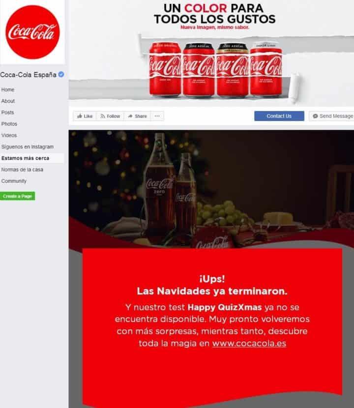 Coca Cola Facebook Page Design