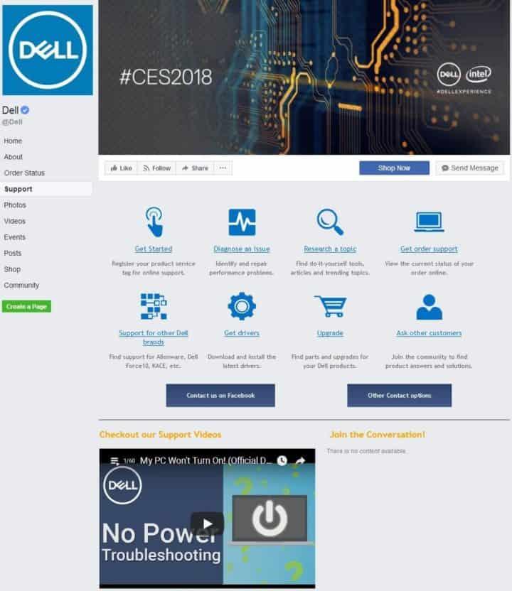 Dell Facebook Page Design