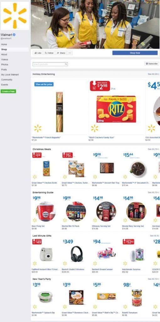 Walmart Facebook Page Design