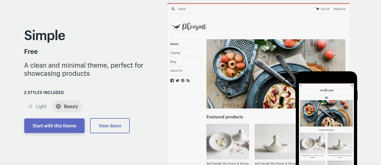 Simple - free shopify theme