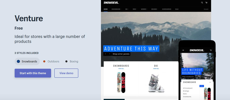 Venture - Free Shopify Theme 2019
