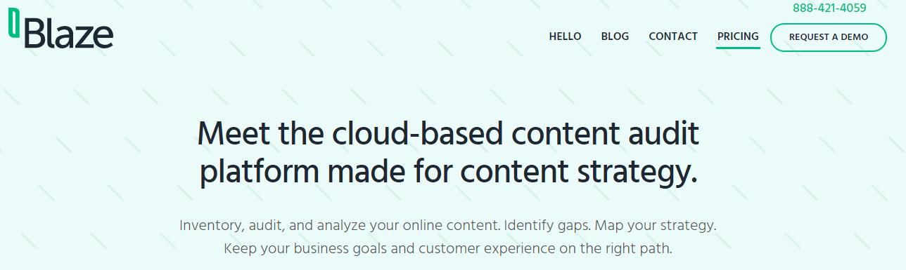 Blaze Content Audit