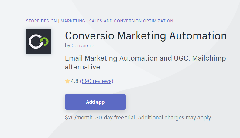 Conversio - MailChimp Alternative for Shopify