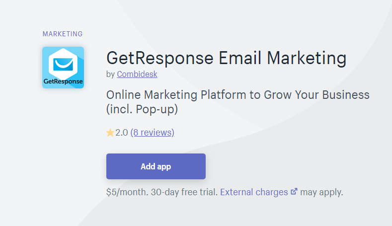 GetResponse - shopify mailchimp alternatives