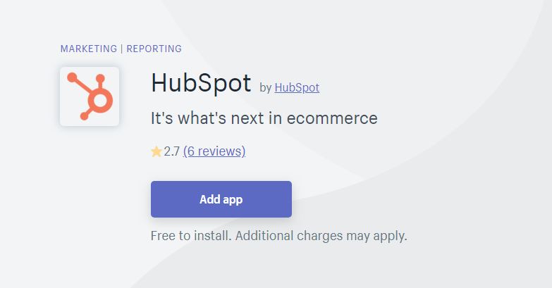 Hubspot - MailChimp Alternative for Shopify