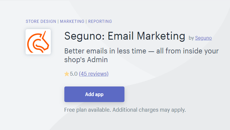 Seguno - mailchimp alternatives free