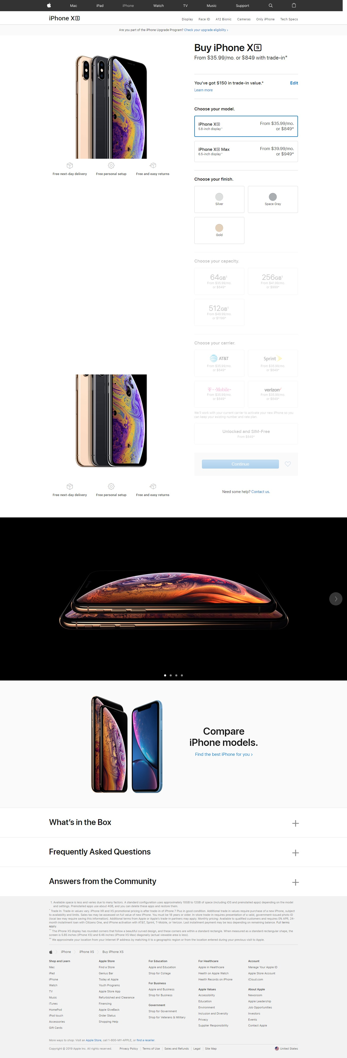 iPhone's product page optimization example
