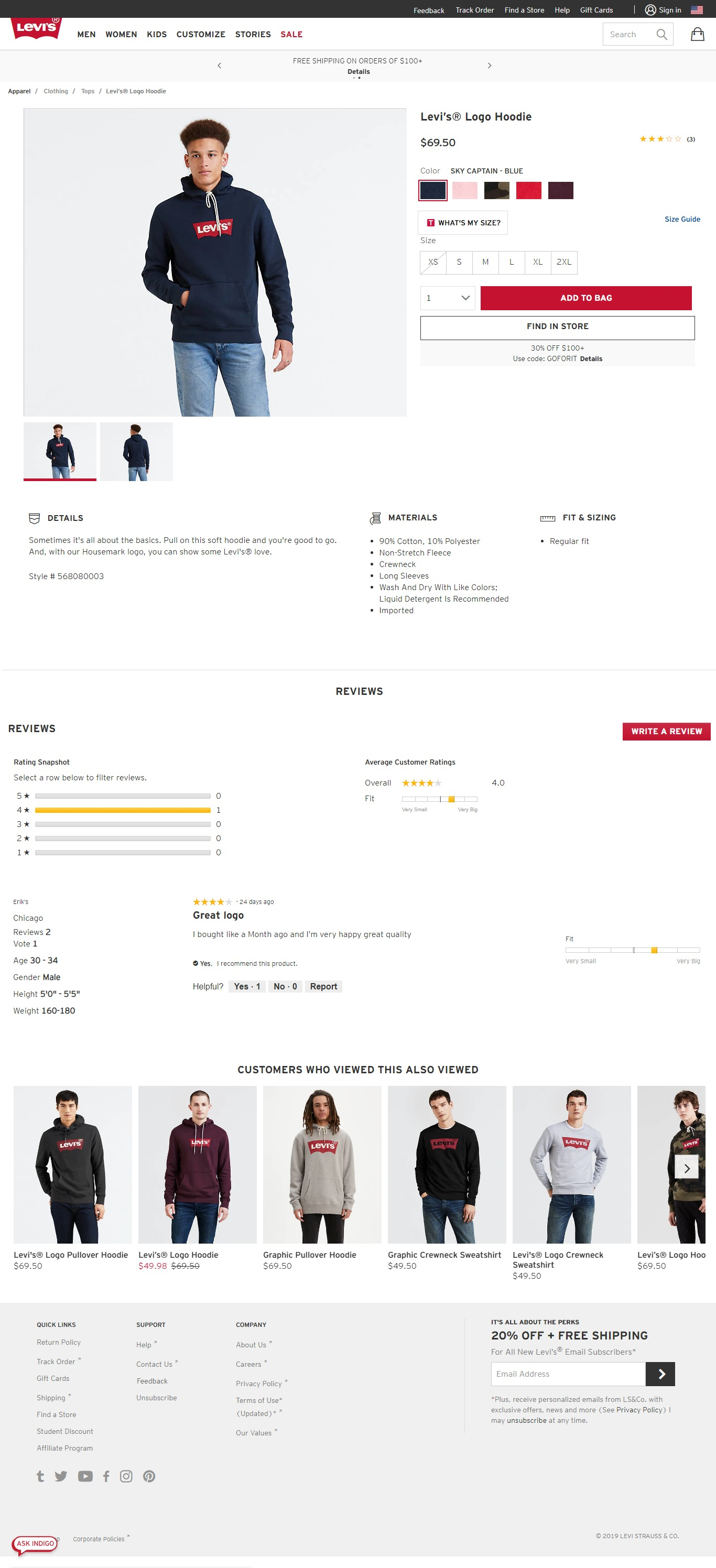 Product Page Best Practices by Levi's
