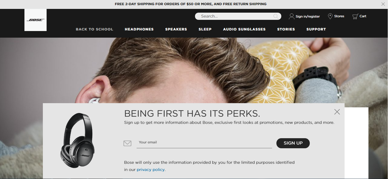 eCommerce Personalization - Popup