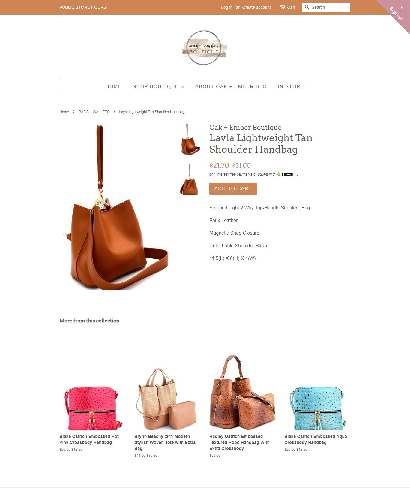 oakamber - examples of shopify stores