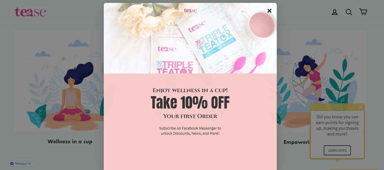 tease shopify store