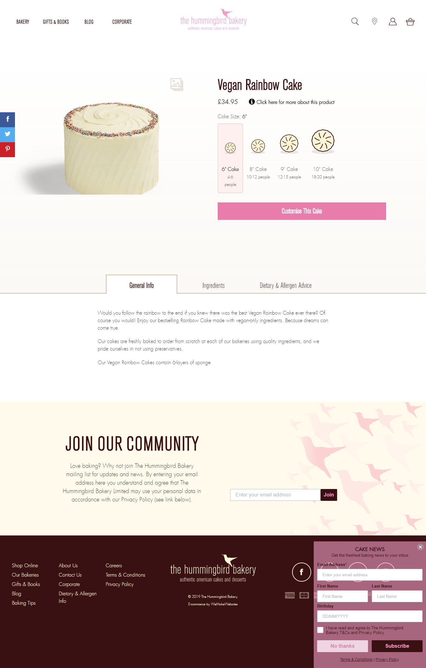 hummingbird bakery - most popular shopify store