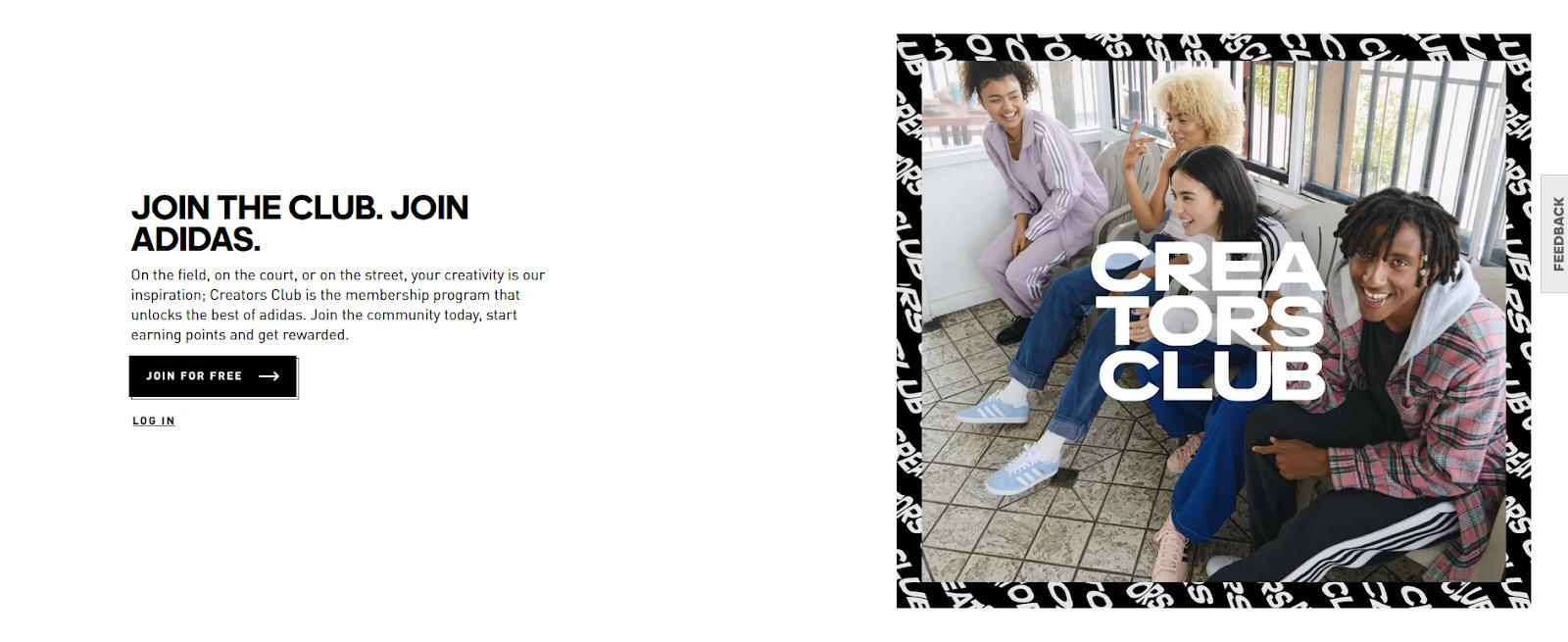 Adidas Creators Club Community Page
