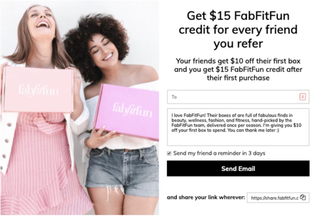 FabFitFun Referral Bonus Small business marketing strategy