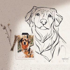 A custom pet portrait from Stellar Villa