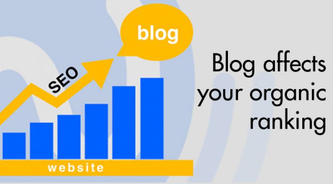 Blog affects your organic ranking