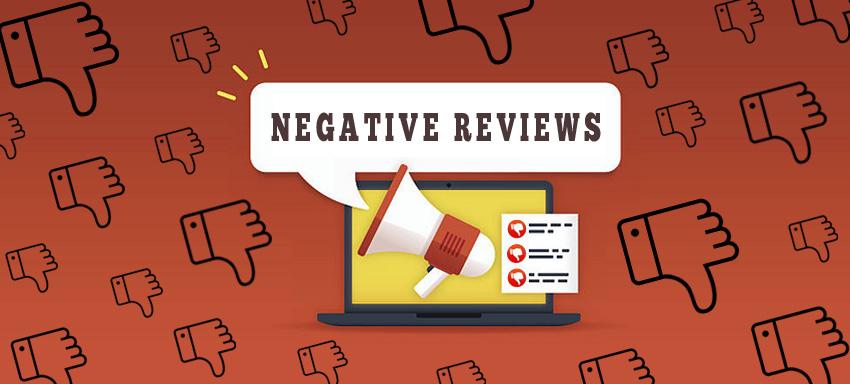 facing negative reviews